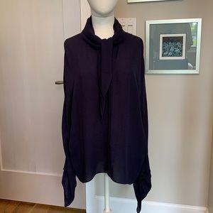Balenciaga silk chiffon blouse with tags